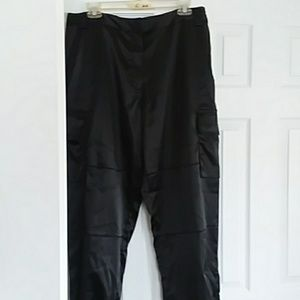 Polyester and spandex cargo pants